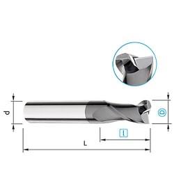 Fréza 2-břitá, 30°, Ø 4mm